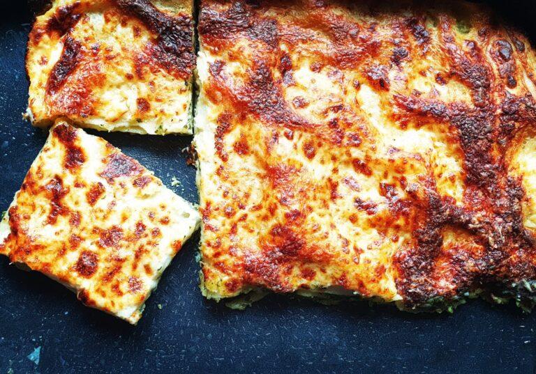 spenátové lasagne